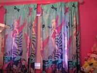 Tinkerbell blue curtains