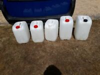 Pure Water Drums Containers 25ltr window cleaning