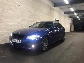 **2007 BMW 330D LE MANS BLUE M SPORT AUTO+ SAT NAV+ HEATED CREAM LEATHER+ FULLY LOADED**