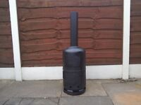 Gas bottle woodburner / stove / heater / chimnea / incinerator / prepping / camping / builders
