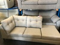 NEW - EX DISPLAY JOHN LEWIS GREY LARGE CHAISE SOFA - SOFAS 70% OFF RRP