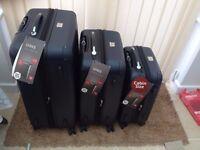 3-Piece Hardshell Luggage Set Dark Blue TSA
