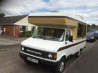 Bedford cf2 motor home 12 months m.o.t 4 berth good condition throughout fridge/ cooker