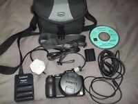Panasonic Lumix Digital Camera Model DMC-F218 with accessories