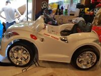 Audi electric ride on sports coupe in white 12 volt 'as new'
