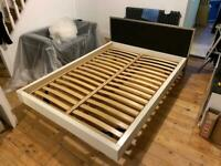 Modern floating double bed