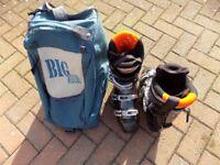 Adult Ski Boots and Bag.