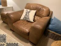 Single seater sofa armchair - Brown Leather