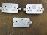 Electric Wall Sockets - Metal