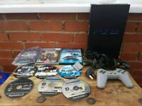 Ps2, one controller, 9 games all wires