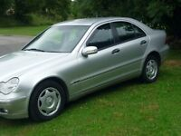 2002 MERCEDES C200 SALOON.NOT FREELANDER OR X TRAIL. PX OR OFFERS