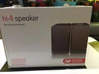 ACOUSTIC SOLUTIONS Bluetooth Wireless Bookshelf Speakers BRAND NEW IN BOX