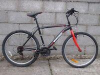 mens black bike 26''
