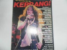 First 10 copies of kerrang magazine.
