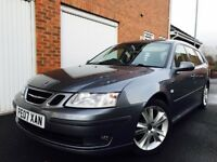 2007 07 Saab 9-3 Estate Vector Sport Anniversary 1.9 TID **Automatic+Paddles**FSH**SATNAV Leather