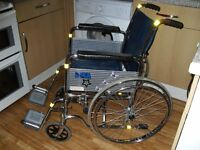DMA Self Propelled Folding Wheelchair With Detachable Foot Rests & Fold Down Handles, Solid Tyres