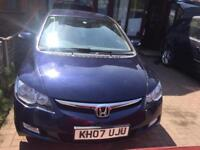 Honda Civic IMA £10 /year road Tax Automatic Low mileage hybrid car not corolla Yaris Focus avensis