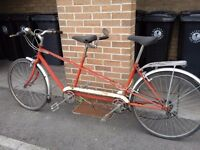 vintage tandem in need of TLC, a good simple project for someone