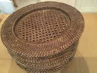 Conran rattan table mats set of 8