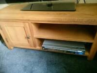 Wiltshire oak tv unit.