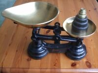 SUPERB SET OF WEIGHING SCALES / KITCHEN SCALES AND WEIGHTS MADE BY LIBRASCO