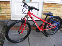 """24"""" WHEEL FRONT SUSPENSION BIKE IN GREAT WORKING CONDITION AGE 8+"""