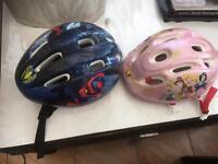 Kids bike 2 x helmets
