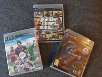 PS3 Playstation 3 Games - Grand Theft Auto (GTA) 5, Gran Turismo (GT) 5 and FIFA 13