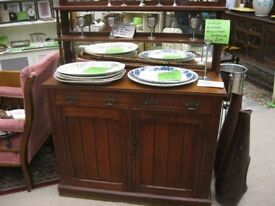 VINTAGE ORNATE MIRROR BACKED VERSATILE SIDEBOARD CABINET. MAHOGANY. VIEWING/DELIVERY POSSIBLE