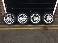15inch alloy wheels set of 4 with tyres