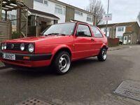 VW Golf MK2 Tornado Red 1.6cl, Hatchback, Left hand drive 1990