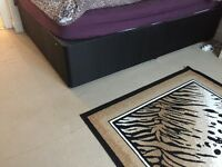 BLACK DOUBLE DIVAN BED - FREE TO COLLECTOR