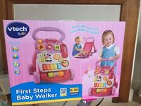 Vtech First Steps Baby Walker-Pink (brand New, unopened) for age-6-30 months