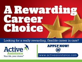 Care Assistants needed in Essex - Part Time available. FREE training and no experience req.