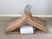 Set of 60 Wood Hangers
