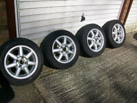 VW Golf Orlando 7 spoke alloys with tyres / caps ready to go 4 x 100 pcd , Golf , Polo etc 14 inch