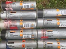 Auto Spray Paint Various Grey/Silver Shades