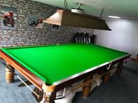 Full Size Slate bed Snooker Table 12' x 6' including all accessories