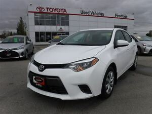 2016 Toyota Corolla LE TOYOTA CERTIFIED PRE OWNED