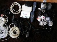job lot modems ans phone and wires