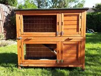 Rabbit Hutch double level with separate run