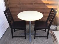 Ikea bistro table and two chairs
