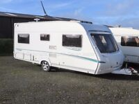 Abbey GTS Vogue 415, *REDUCED TO CLEAR* Fixed French Bed, 4 Berth Caravan, 2007