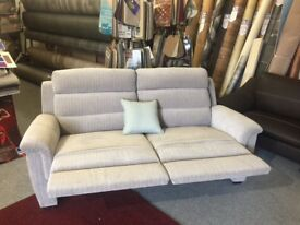 Brand new Grey Reclining Sofa