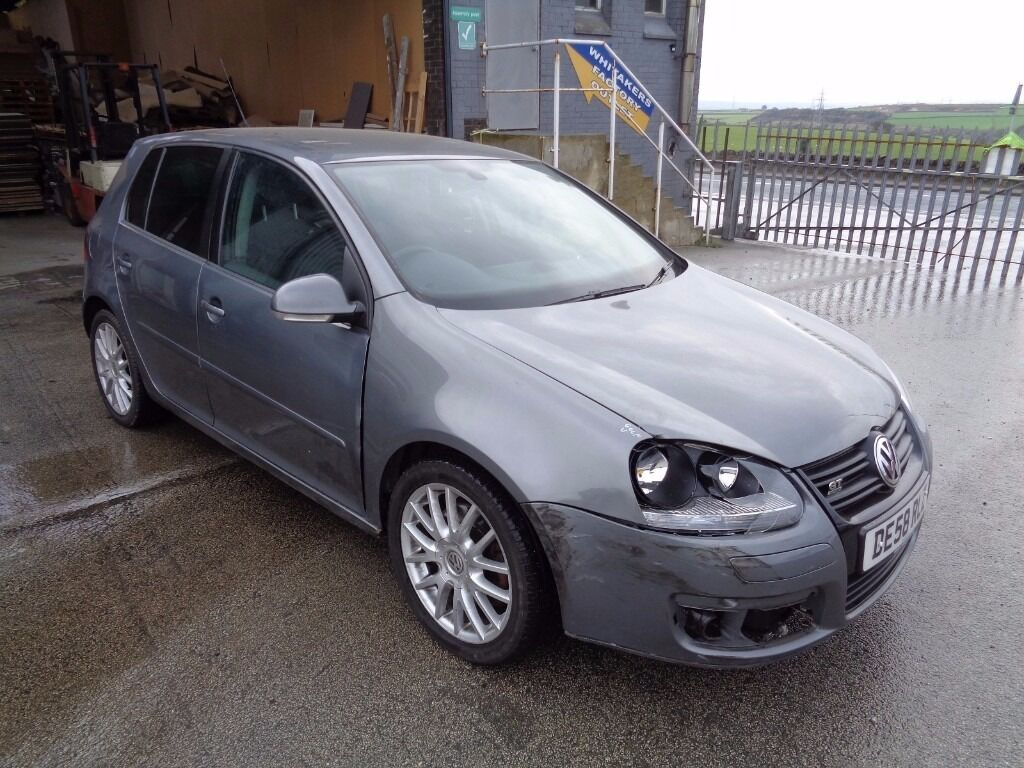 2008 volkswagen golf gt sport 2 0 tdi 170 bhp dsg automatic 5 door hatchback grey unrecorded. Black Bedroom Furniture Sets. Home Design Ideas