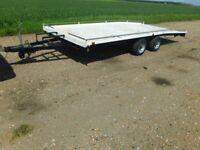 3.5 ton beavertail car transporter trailer 16x7ft