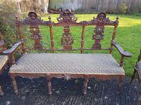 Unique & ornate set of antique chairs