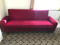3 Red Sofas. EACH £50.