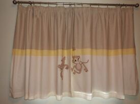 Black out cheeky monkey pencil pleat curtains