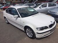 2002/52 BMW 325I SE 4 DR, AUTOMATIC,WHITE,LOW MILEAGE,LOOKS AND DRIVES WELL